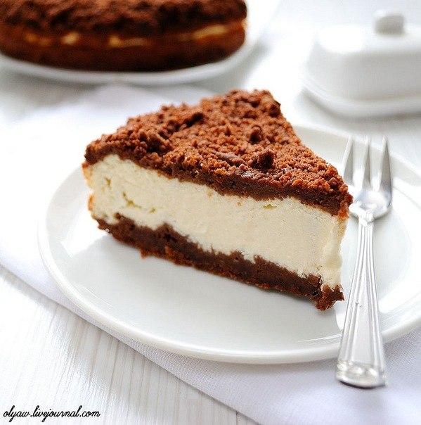 шоколадный пирог с творогом рецепт с фото