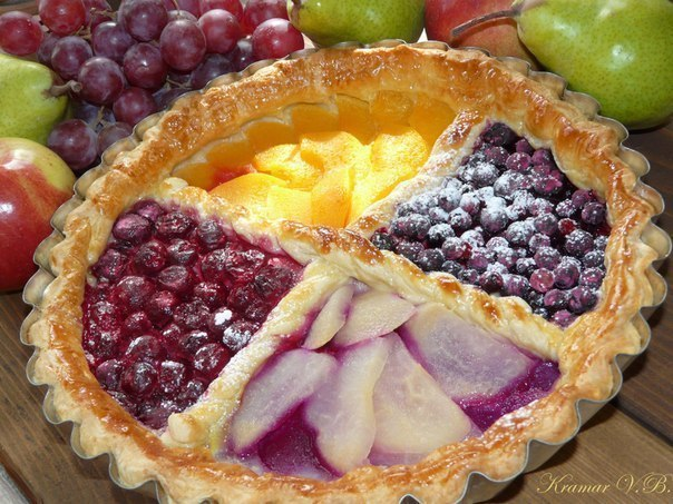 Пирог слоен тесто с ягодами рецепты с