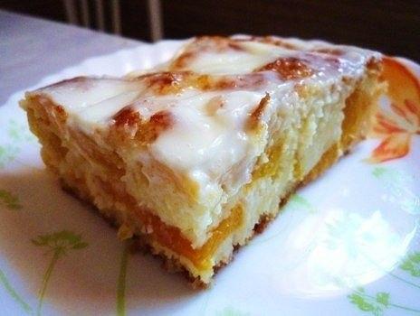Пирог с персиками рецепты
