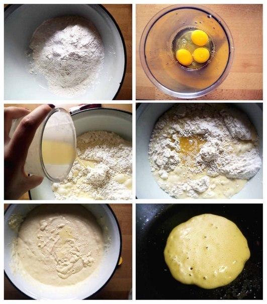Панкейки простой рецепт с фото