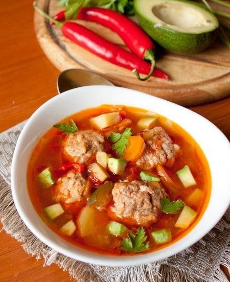 Суп з фрикадельками рецепт приготування з фото