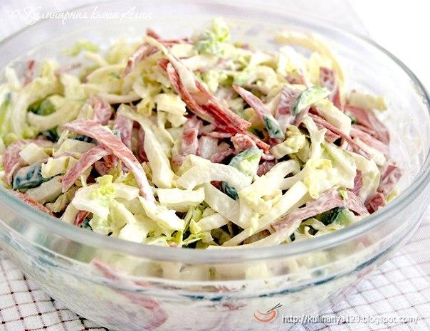 Легкий и быстрый салат вкусный рецепт с