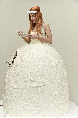 Свадебные платья торти фото